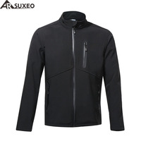 ARSUXEO 2017 Thermal Fleece Cycling Jacket Winter Warm Up Bike Clothing Windproof Waterproof Sports Coat MTB