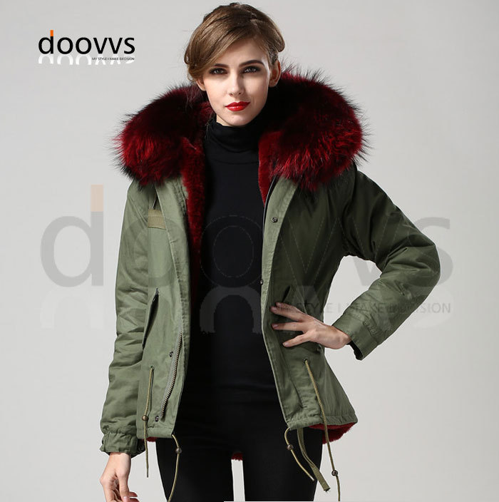 wine red Warm Winter fur elegant collar coat, Slim Wine Lining Mrs ...