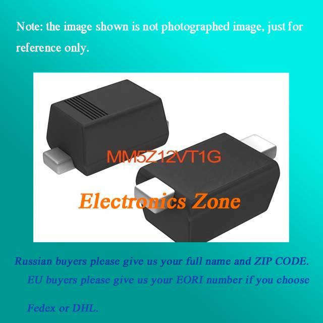 US $25 41 |MM5Z12VT1G DIODE ZENER 12V 200MW SOD 523 MM5Z12VT Semiconductor  5Z12 MM5Z12 5Z12V MM5Z1 5Z12VT-in Demo Board from Computer & Office on