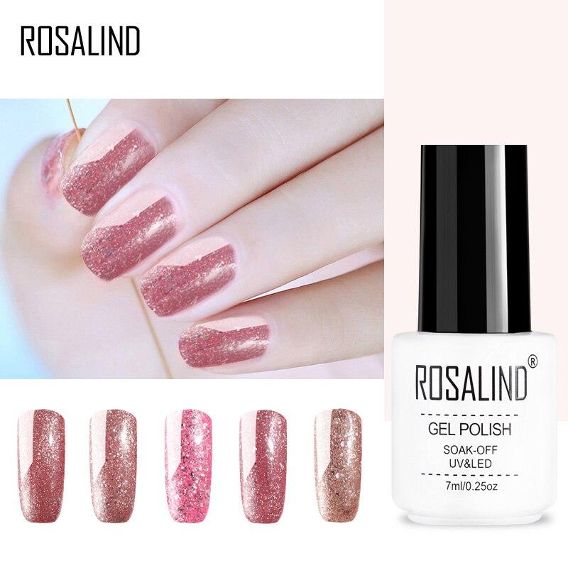 Гель для ногтей ROSALIND 1 S, серия розово золотого цвета, маникюрный Гель лак для ногтей, Полупостоянный УФ Гель лак|Лак для ногтей|   | АлиЭкспресс