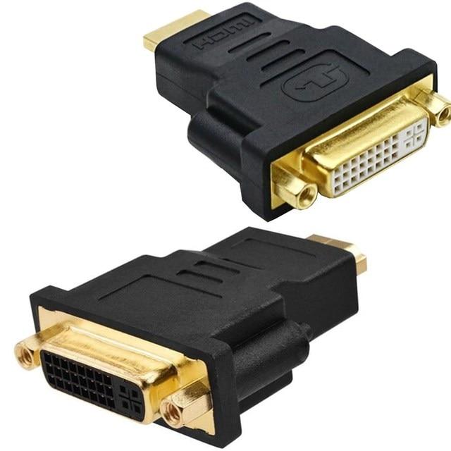 HDMI Ke DVI Kabel Audio Converter DVI 24 + 5 Female Ke HDMI Male Bi-Directional Adaptor 1080 P konektor untuk PC LCD DVD PS3 Monitor