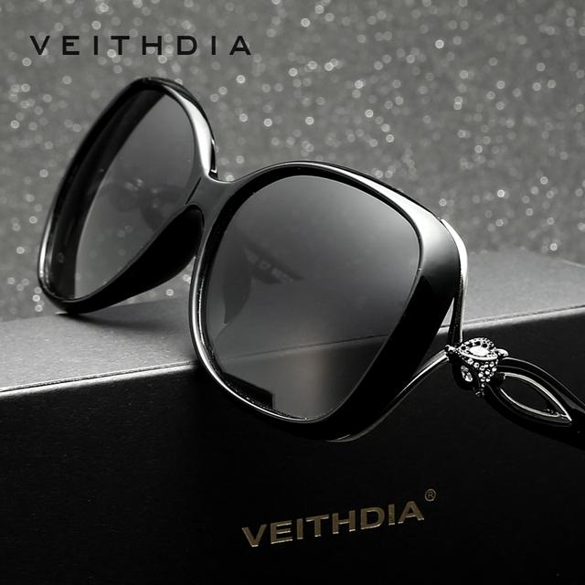 VEITHDIA Retro TR90 óculos Polarizados óculos de Condução óculos de Sol de Luxo Das Senhoras do Desenhador Das Mulheres Óculos de Sol Eyewear oculos de sol feminino 7022