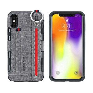 Чехол-кошелек с отделением для карт для iphone X XR, тканевый чехол с металлическим кольцом для iphone XS Max для iphone XR, 2019