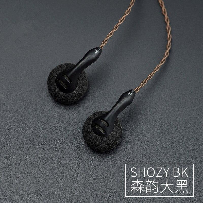 Shozy bk alta sensibilidade baixa resistência alta fidelidade audiophile aberto cabeça plana música dj monitor estéreo 2.5mm 3.5 fones de ouvido - 5