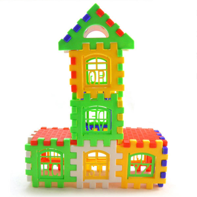 24Pcs/Set Children Toys Plastic Colorful Gear Blocks Green Color for Baby House Building Blocks Developmental Educational Toy