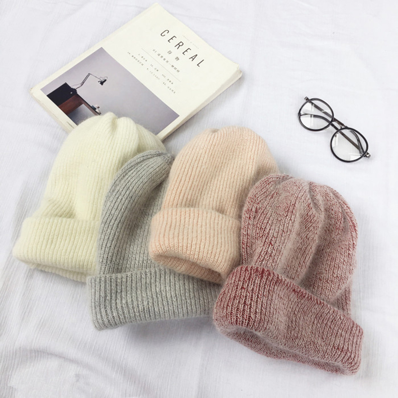 Autumn winter rabbit hair Winter skullies Hat fashion warm beanies hats casual women solid adult rabbit caps cover head 1