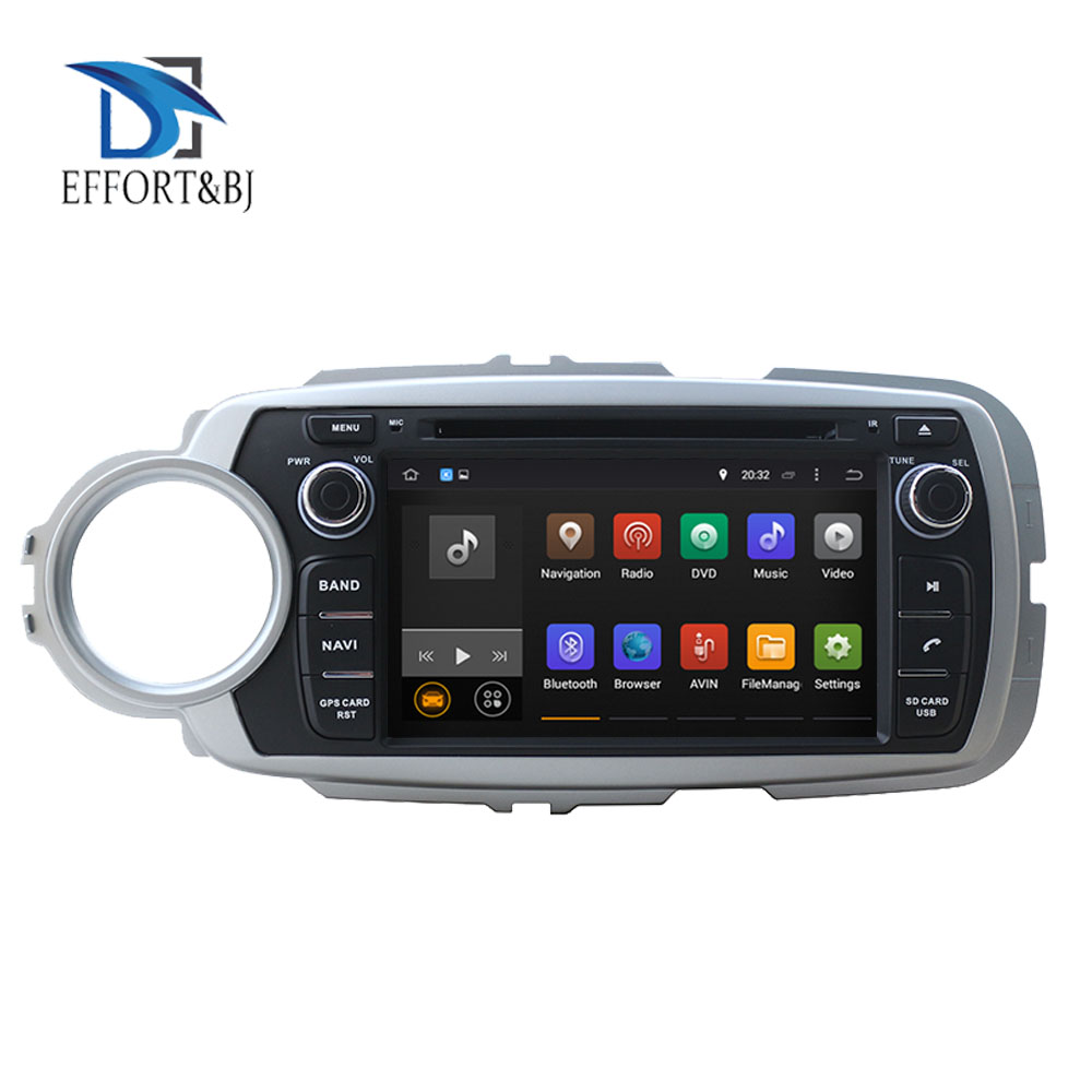 RAM 4GB 64GB Octa Core Android 9.0 Für Toyota Yaris 2012 <font><b>2014</b></font> 2015 2016 2017 2018 Auto DVD Player navigation GPS Radio Kopf Einheit image