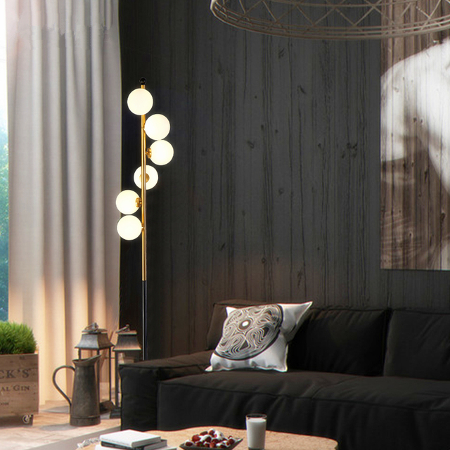 Postmodern Frosted Glass Standing Floor Lamp