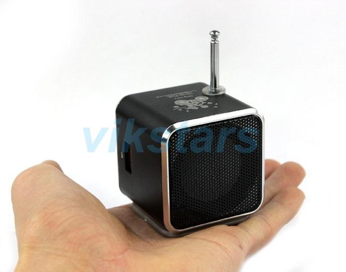 REDAMIGO TD-V26 Alluminio Digita linternet radio ricevitore FM di DEVIAZIONE STANDARD TF del USB Gioco Stereo Altavoz mini Altoparlante portatile FM radio RU632