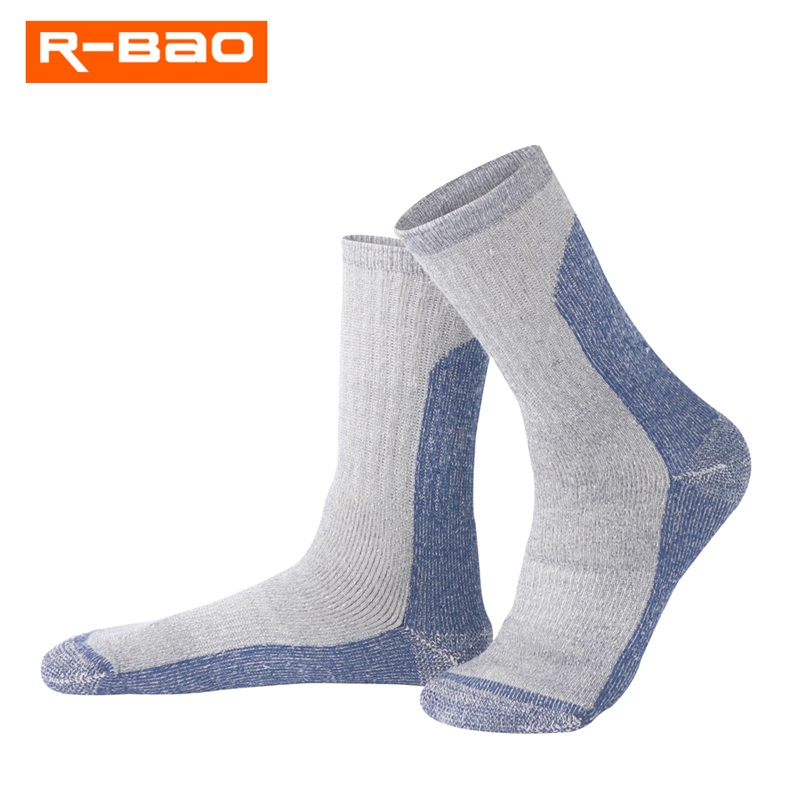 R-BAO Merino Wool Socks Outdoor Skiing/Hiking Sox High Quality Terry Thicken Keep Warm Wear-Resisting Sports for Winter RB3308