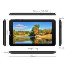 "E706 7 ""Google Android 5.1 de la Tableta 3G Desbloqueado teléfono Tablet PC 2G/3G/Wifi 1 GB + 8 GB Quad-Core de la Pantalla Táctil Dual de La Cámara (Negro)"