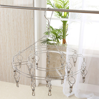 Buy Double Tier Round 20 Clip Stainless Steel Easy Laundry Cheap Clothes Drying Hanger Rack Hanging
