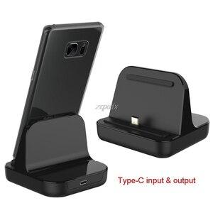 Image 1 - Tipo C Caricatore Del Bacino di Ricarica USB Desktop di C 3.1 Stazione Della Culla Per Il Telefono Jy19 19 Dropship