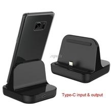 Typ C Dock Ladegerät Lade Desktop USB C 3,1 Cradle Station Für Telefon Jy19 19 Dropship
