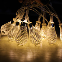 2018 Globe String Lights Moroccan Ball String Lights 4M 40 LED Fairy Orb Lantern Christmas Party
