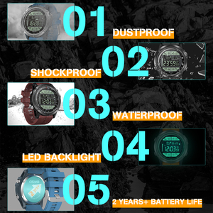 Image 3 - Zeblaze VIBE 3S Rugged Outdoor Smartwatch Real time Weather Steps Calorie Distance Tracking 5 ATM/50M/164ft Water Resistant
