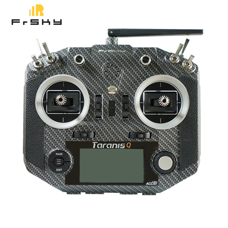 Frsky 2.4G 16CH ACCST Taranis Q X7S Carbon Fiber Water Transfer Transmitter Remote Mode 2 M7 Gimbal EVA Bag for RC Helicopter frsky horus x10s 16 ch rc transmitter mode 2 mc12plus gimbal aluminum packaging remote control for rc toy vs accst taranis q x7