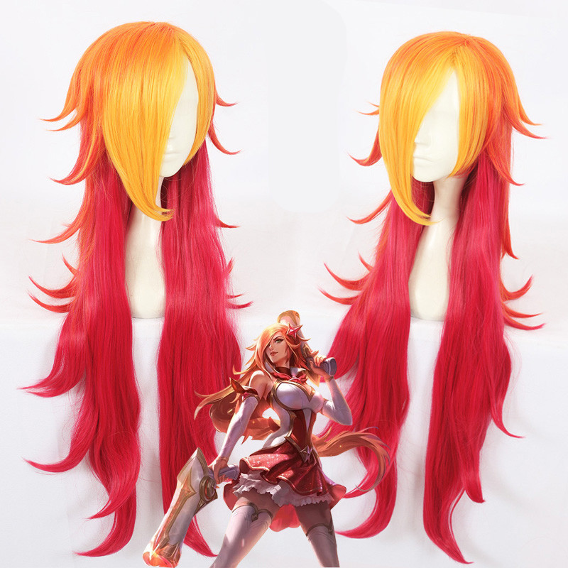 Game LOL WOMEN ROLE PLAY  Star Guardian Miss Fortune Cosplay Wigthe Bounty Hunter long hair wig costumes
