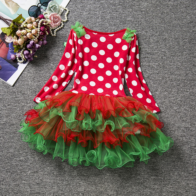 HTB1pETkaOERMeJjy0Fcq6A7opXaQ New Year Baby Girl Christmas Dress Girl's Merry Christmas Dress Children Kids Cotton Dot Dress Girls Tutu Santa Clus Costume