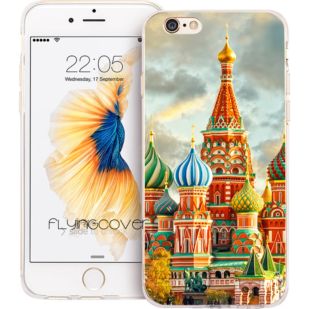 Coque Russia Kremlin Palace Clear Soft TPU Silicone Phone Cover for iPhone X 7 8 Plus 5S 5 SE 6 6S Plus 4S 5C iPod Touch 6 5Case