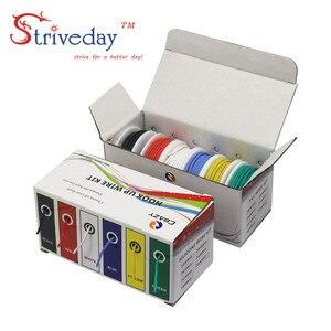 Image 5 - Cabo de arame flexível kit de fio, arame de silicone flexível cobre 6 cores, 30/28/26/24/22/20/18awg pacote de linha de cobre elétrica diy