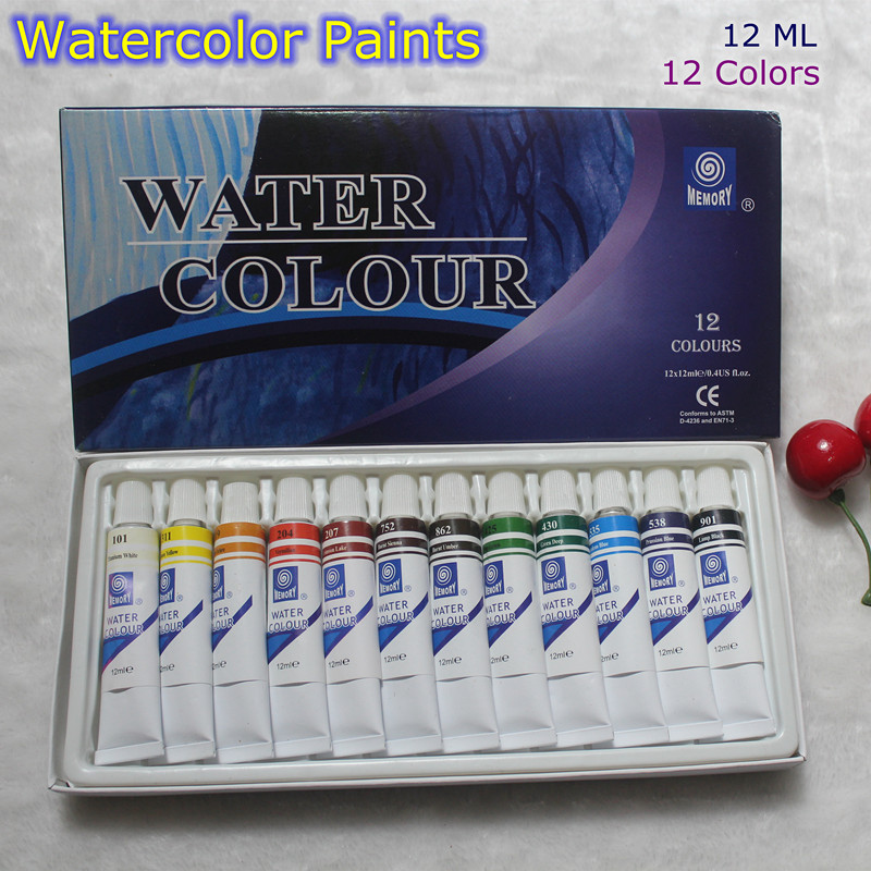 Professional Brand Watercolor Paint Children's Creative Watercolor Kit Rainbow Art Painting 12 Tube Set