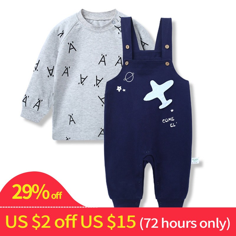 Airplane Baby Girl Outfit Clothes Suit Long Sleeve Newborn Baby Boy Clothes Set Baby Set Boy Clothing Baby Pants Sets Overalls baby boy girl clothing set high quality cotton kids children clothes pullover hooded suit for boy girl long sleeve spring sets