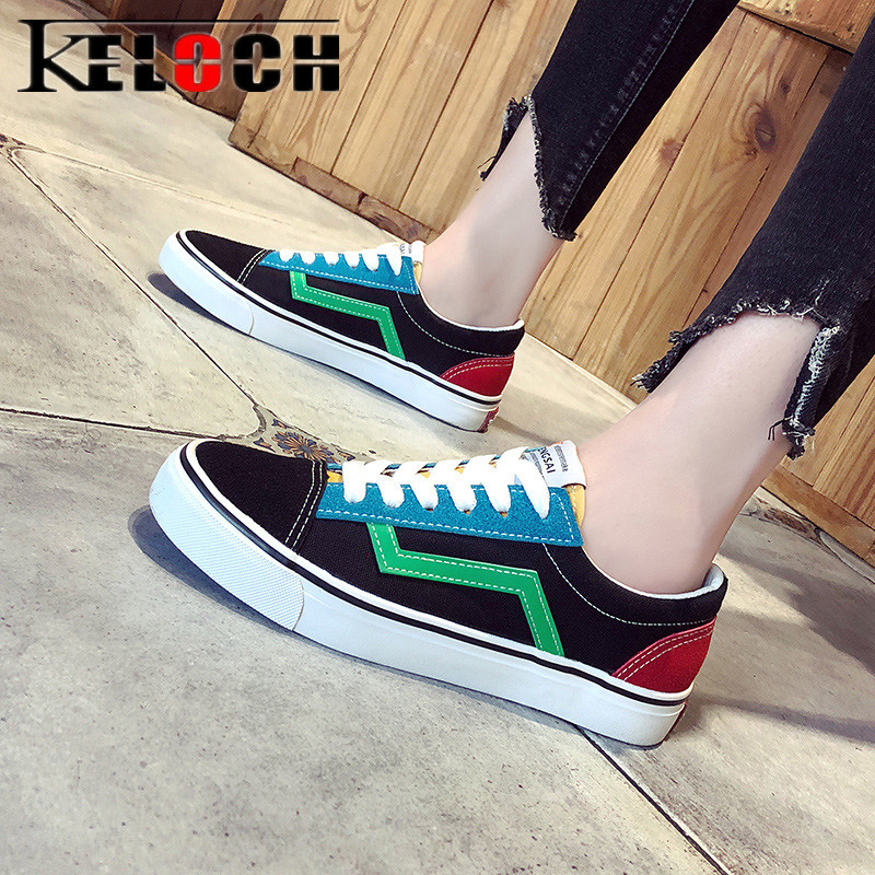 Keloch New 2018 Canvas Shoes Women Summer Breathable Casual Flats Female Vulcanized Shoes Krasovki Shoes Tenis Feminino m genreal 2017 new women white shoes all match summer breathable leather shoes vulcanized casual shoes candy color lace 35 39