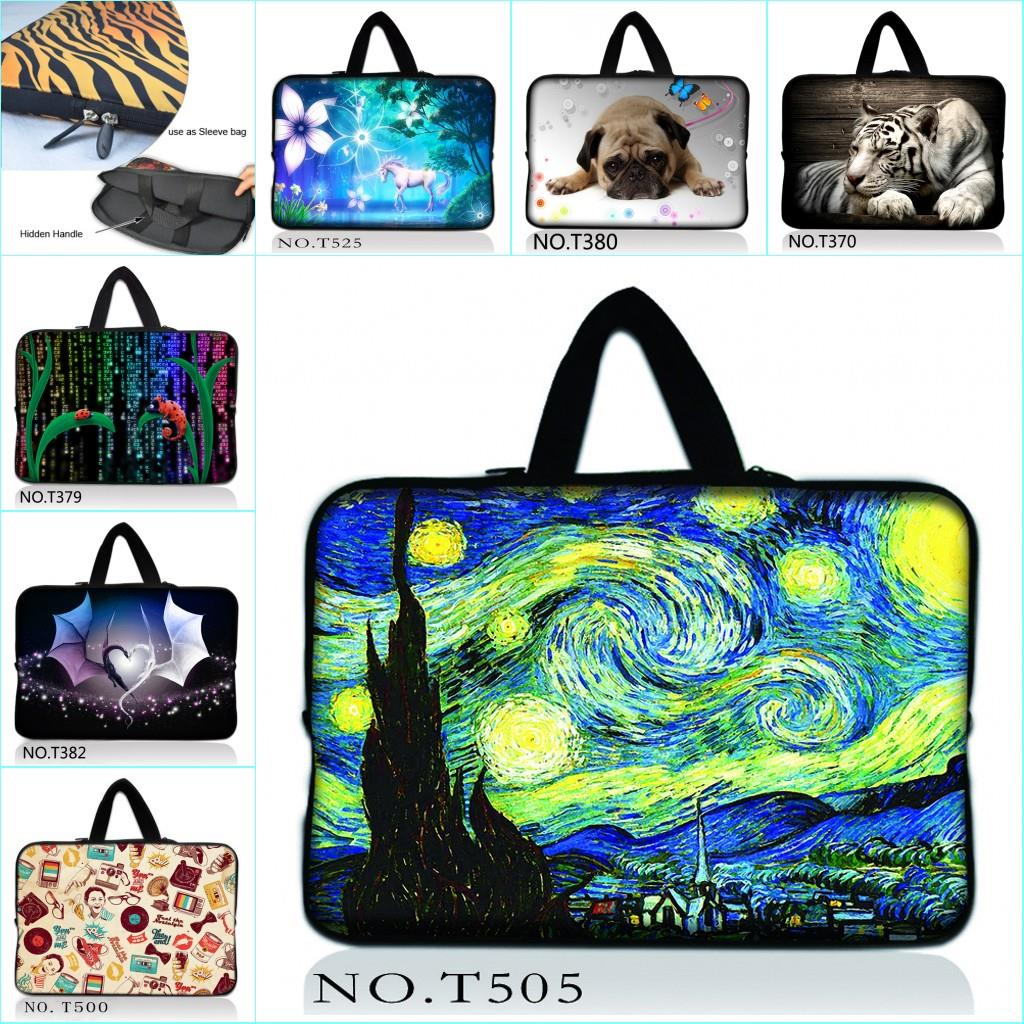 Neoprene Soft Van Gogh 15.6 13 12 10 7 17 17.3 Inch Netbook Laptop Sleeve Bag Handle Carry Cases Cover Pouch For Macbook Air 15