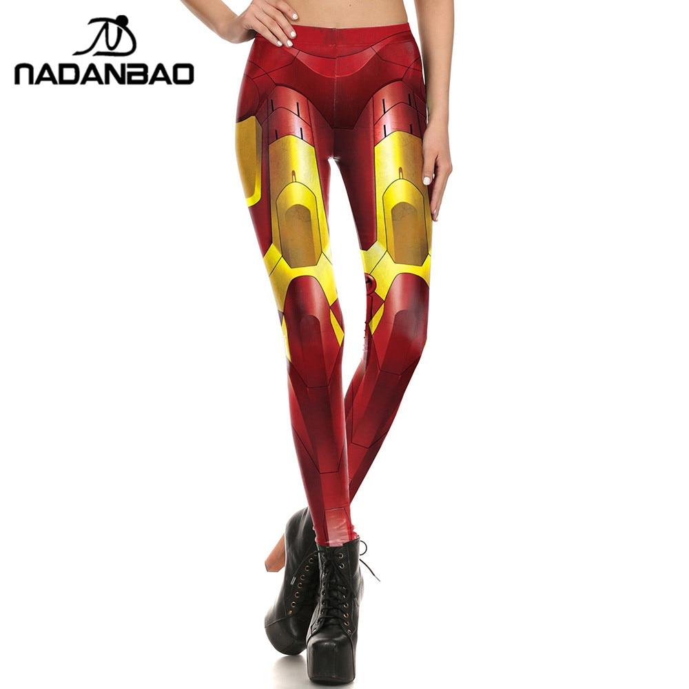NADANBAO New Arrival Women Leggings Digital Print Golden Armor Fitness Workout Leggins Ripple Slim Plus Size Elastic Legging