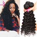 Deep Wave Brazilian Virgin Hair With Closure Tissage Bresilienne Avec Closure Couleur Brazilian Deep Wave Bundles With Closure