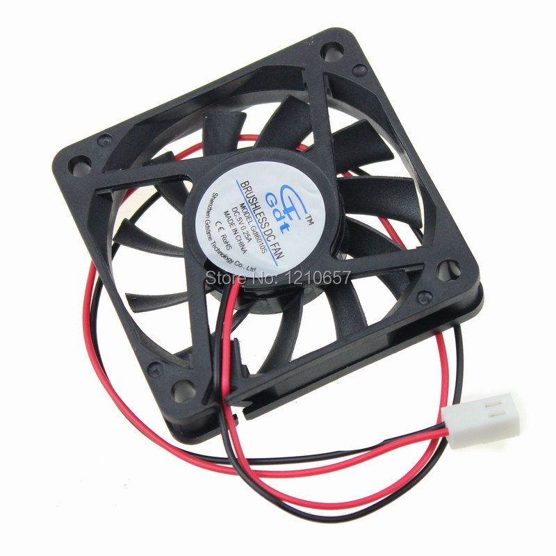20 Pieces Lot Gdstime 60mm 60x60x10mm DC 5V 2Pin 2510 Connector Brushless Cooling Cooler Fan 5 pieces lot a20 bga