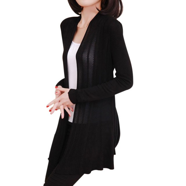 cb02991f441af Spring Fall Womens knitted Slim Fit Open Front Sweater Cardigan Ladies Long  Sleeve Cardigans Shawl