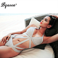 Bqueen 2017  Black New Fashion Sexy One piece Bandage Swimsuits Bathing Suit Bodysuit
