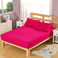 Sábana de poliéster de Color rosa para niños adultos lijadora solo para sábanas dobles, sin fundas de almohada XF335-12