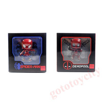 2pcs Set Chaoer Cute Deadpool + Spider-Man Figure 3