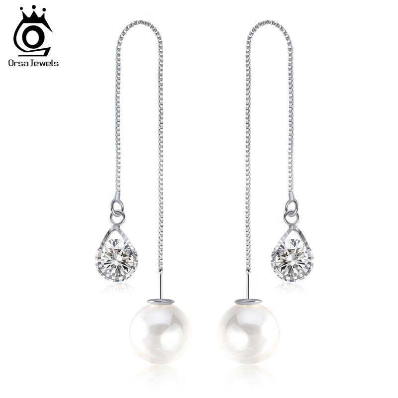 ORSA JEWELS Ny vanddråbeform østrigske krystal lange øreringe med - Mode smykker - Foto 5