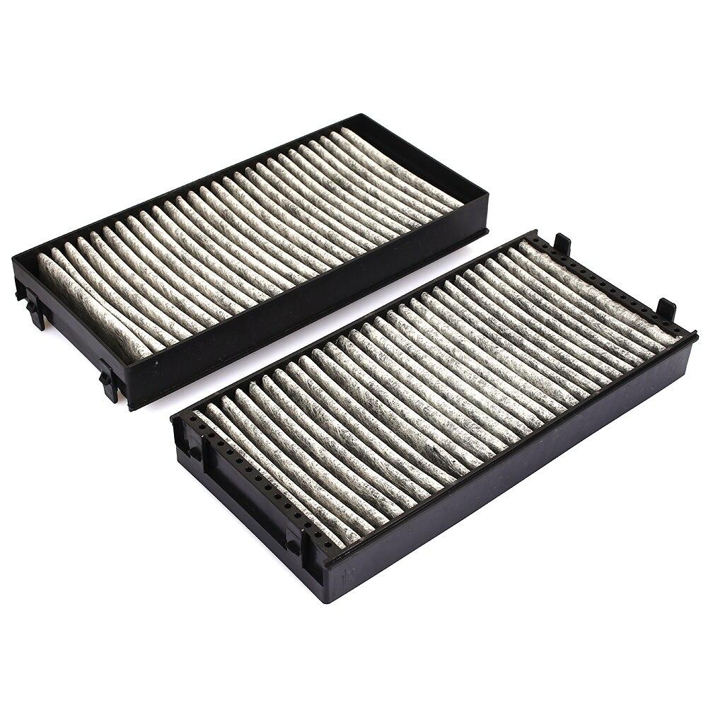 2 шт автомобилей Воздушный фильтр для салона воздушный фильтр Высокое качество воздушный фильтр Анти-Пыльца пыль автомобильные аксессуары 64316945586 для BMW E70 X5 E71 X6