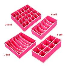 4 Pc bielizna organizer biustonoszy pudełko do przechowywania 2 kolory beżowy Rose szuflady szafy organizatorzy pudełka na bielizna szaliki skarpetki biustonosz tanie tanio as picture Włókniny tkaniny Quail