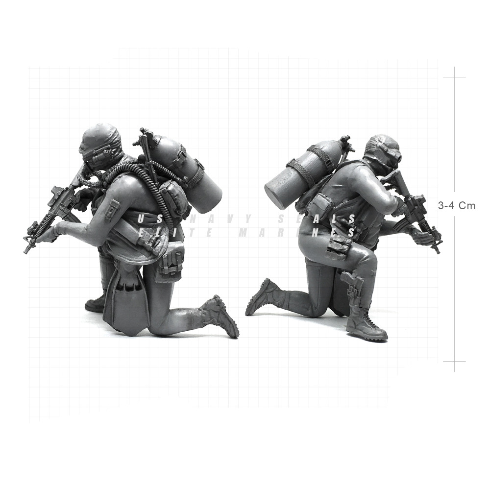 Tobyfancy 1/35 Modern U.S Navy Seals Elite Marines Amphibious Commando Military Soldier Resin Model Figure NAI-06