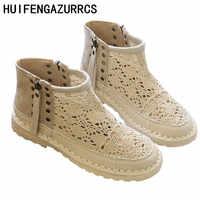 HUIFENGAZURRCS-Originally Mori hand-made soft soled sandals, Summer lace mesh fisherman shoes, retro women's soft sole shoes