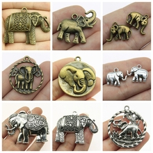 Mix Pendant Elephant Charm For Jewelry Making Diy Craft Supplies Elephant Decoration Charms Men Jewelry Handmade Gift 2019 mix elephant necklace pendant charms for jewelry making diy craft supplies men jewelry elephant god