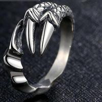 S925 Retro Silver Jewelry Dragon Claw Ring Sterling Silver 925 Opening Christmas Couple Gift Men