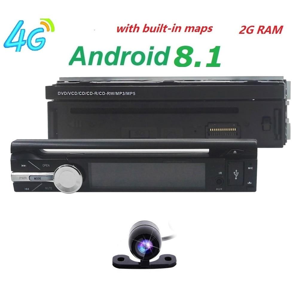 2GB RAM single 1din 7inch touchscreen 4G WIFI Android 8.1 Car GPS FM Radio Stereo head unit Media Player BT USB SD RDS SWC DAB+ 2gb ram 9 android 7 1 2 quad core 4g wifi swc dab rds car multimedia player radio stereo for subaru forester wrx xv 2013 2017