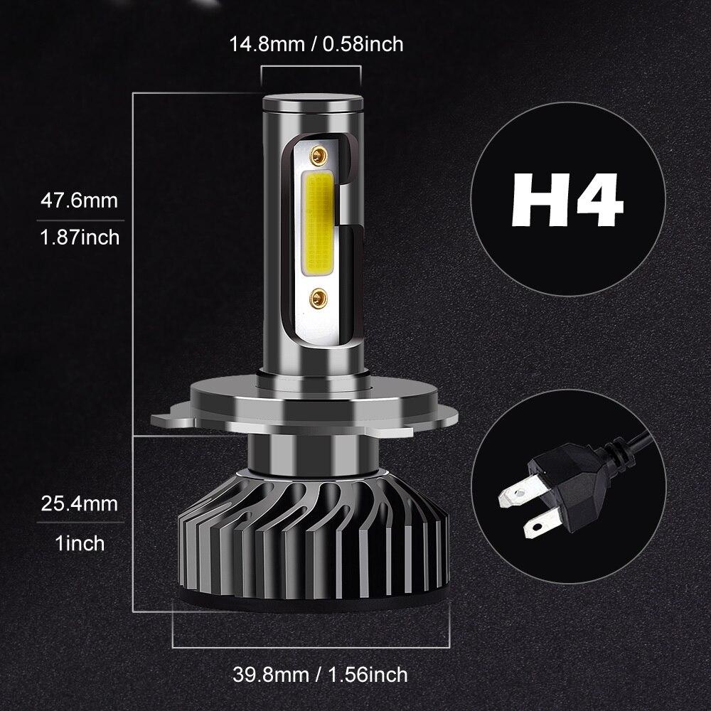 HTB1pEVgdi6guuRkSnb4q6zu4XXah Infitary Car Headlight H7 LED H4 LED H1 H11 H3 H13 H27 880 9006 9007 72W 8000LM 6500K 12V 24V Auto Headlamp COB Fog Light Bulb