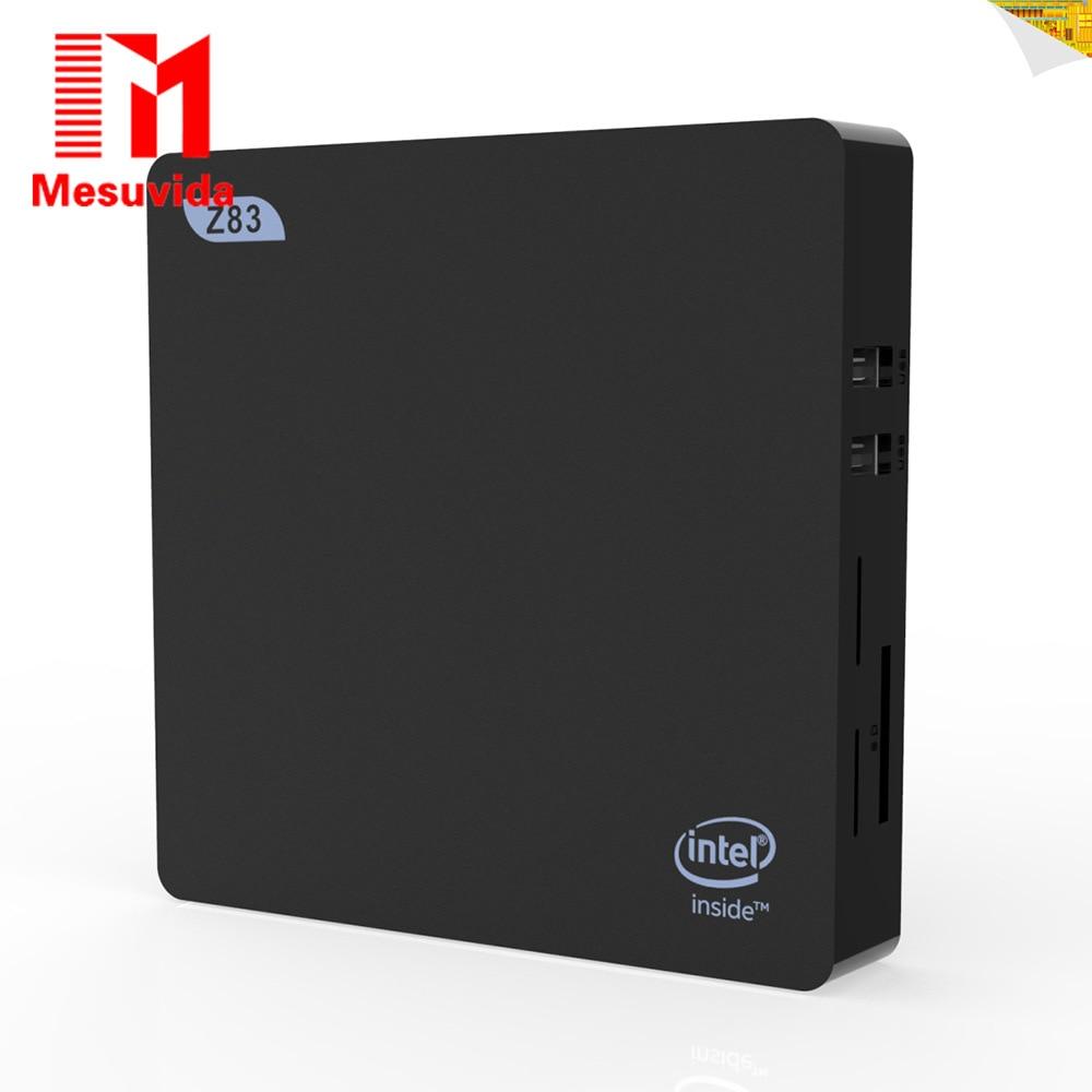 Mesuvida Z83V TV Box 2G DDR3 RAM 32G ROM Window 10 OS Intel Atom X5-Z8350 Mini PC 2.4GHz / 5GHz WiFi Bluetooth 4.0 USB 3.0 mesuvida higole gole1 plus tv box window 10 atom x5 z8350 quad core mini pc bluetooth 4 0 5g wifi media player 4g 64g 4g 128g