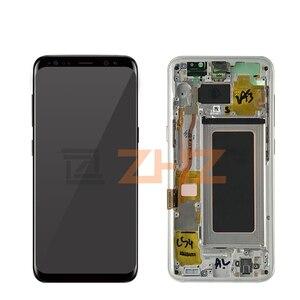 Image 3 - لسامسونج غالاكسي S8 lcd G950 S8 زائد G955 شاشة تعمل باللمس محول الأرقام الجمعية مع الإطار s8 عرض استبدال إصلاح أجزاء