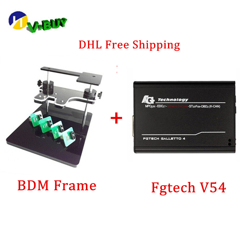 DHL Free !!Best Match Fgtech V54 Galletto 4 Master <font><b>OBD2</b></font> ECu Chip Tuning+ Bdm Frame <font><b>Adapter</b></font> Full <font><b>Set</b></font> Diagnostic Tool image