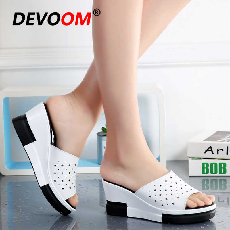 Mode Gesp Thuis Slippers Dames Slippers Vrouwen Strand Slippers Strand Slippers Lederen Platform Slippers Tong Femme