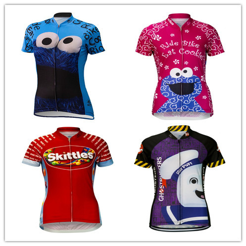 6b6a24b5d Brainstorm Gear Cookie Monster Cycling Jersey (women) bicycle   cycling  Mountain jersey for summer Skittles Cycling Jersey